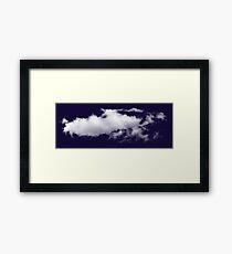 Pixel Clouds Framed Print