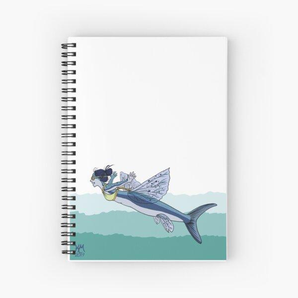 Flying Fish Mermaid Spiral Notebook