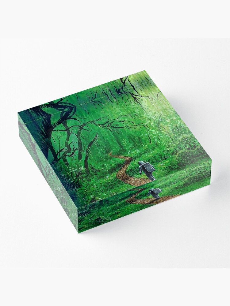 Alternate view of Natures Path Acrylic Block