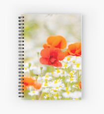Poppy in the Field of Daisies Spiral Notebook