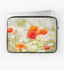 Poppy in the Field of Daisies Laptop Sleeve