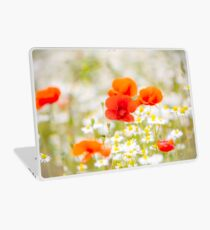Poppy in the Field of Daisies Laptop Skin