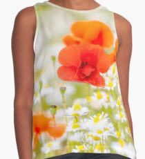 Poppy in the Field of Daisies Sleeveless Top
