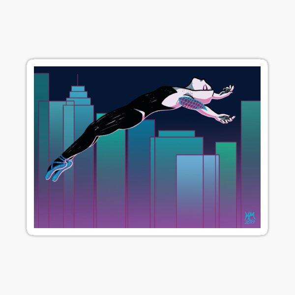 Spider-Gwen Above the City Sticker