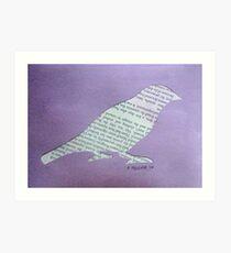 Wordy Birdy  Art Print