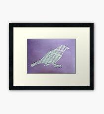 Wordy Birdy  Framed Print