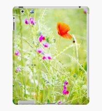 Poppies and Sweet Peas iPad Case/Skin