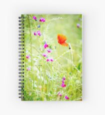 Poppies and Sweet Peas Spiral Notebook