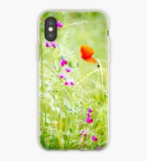 Poppies and Sweet Peas iPhone Case