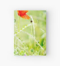 Poppies and Sweet Peas Hardcover Journal