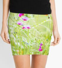 Poppies and Sweet Peas Mini Skirt