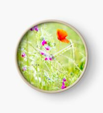 Poppies and Sweet Peas Clock