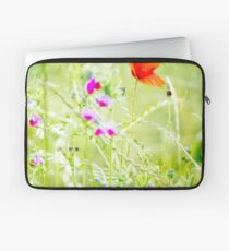 Poppies and Sweet Peas Laptop Sleeve