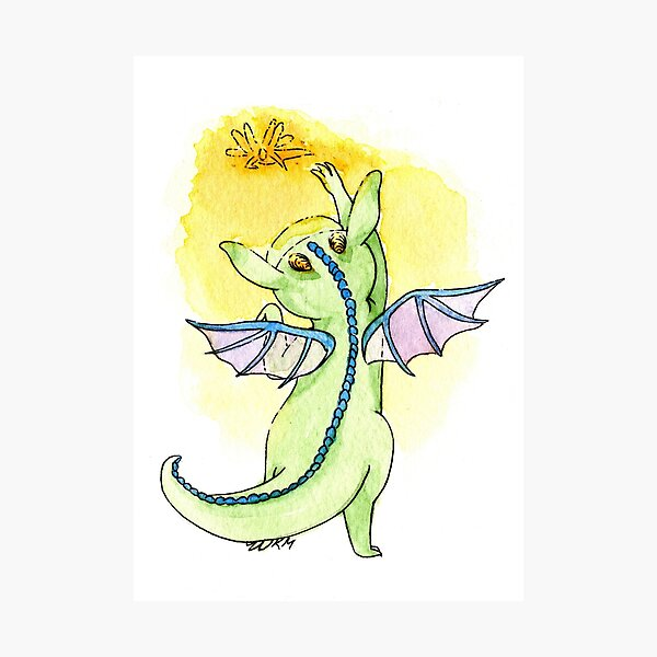 Playful Baby Dragon Photographic Print