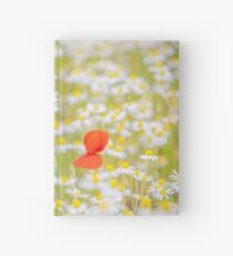 Field of Daisies and the Lonely Poppy Hardcover Journal