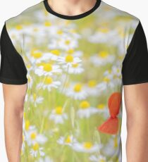 Field of Daisies and the Lonely Poppy Graphic T-Shirt