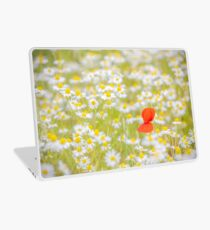 Field of Daisies and the Lonely Poppy Laptop Skin
