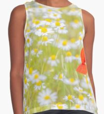 Field of Daisies and the Lonely Poppy Sleeveless Top