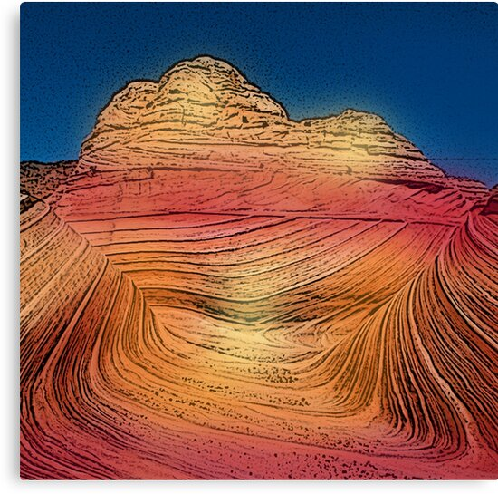 Pretty Desert Red to Orange Canyon Rocks Print