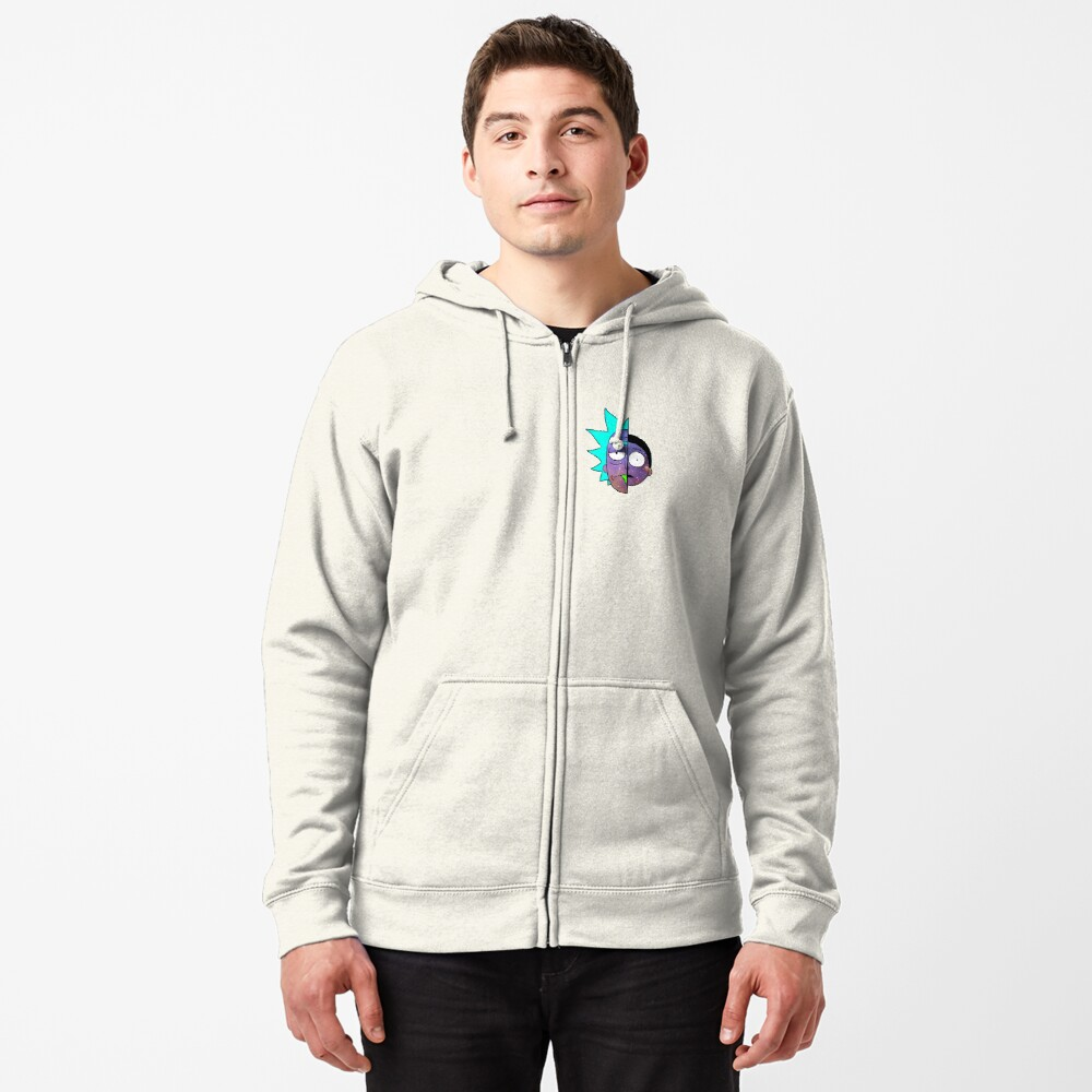 Galactic Rick and Morty Zipped Hoodie