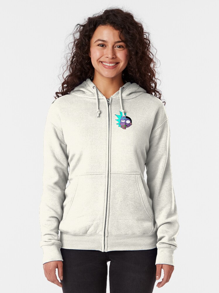 Alternate view of Galactic Rick and Morty Zipped Hoodie