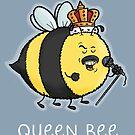 Queen Bee - Funny Cartoon Art Illustration by carlbatterbee