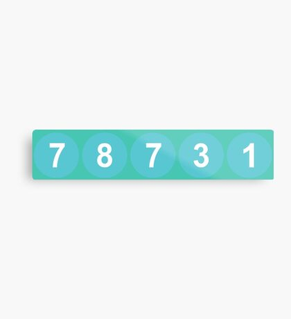 78731 ZIP Code Austin, Texas Metal Print