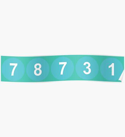 78731 ZIP Code Austin, Texas Poster