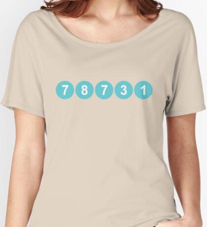78731 ZIP Code Austin, Texas Relaxed Fit T-Shirt
