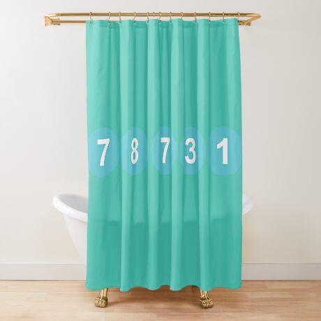 78731 ZIP Code Austin, Texas Shower Curtain