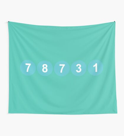 78731 ZIP Code Austin, Texas Wall Tapestry