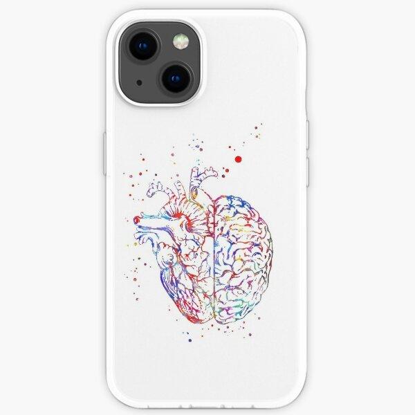 Gehirn und Herz, Gehirnanatomie, Herz, Herzanatomie, medizinische Kunst iPhone Flexible Hülle