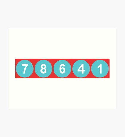 78641 ZIP Code Leander, Texas  Art Print