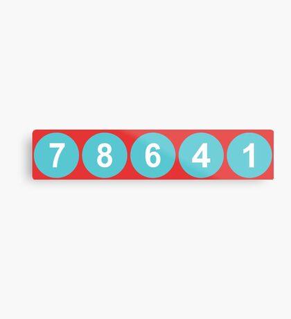 78641 ZIP Code Leander, Texas  Metal Print