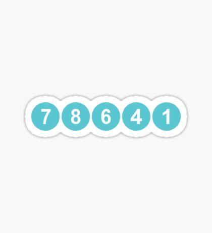 78641 ZIP Code Leander, Texas  Sticker