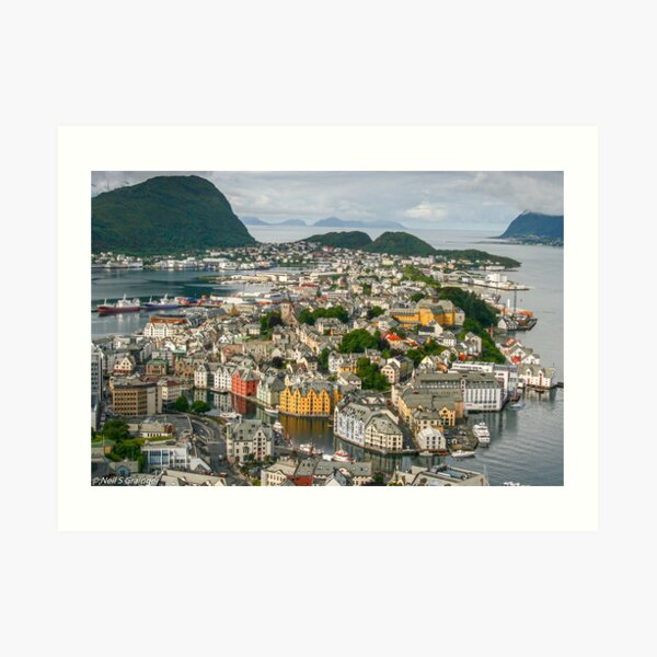 Alesund in Norway Art Print