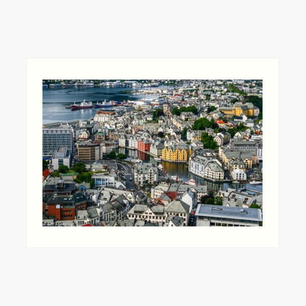 Alesund City Art Print