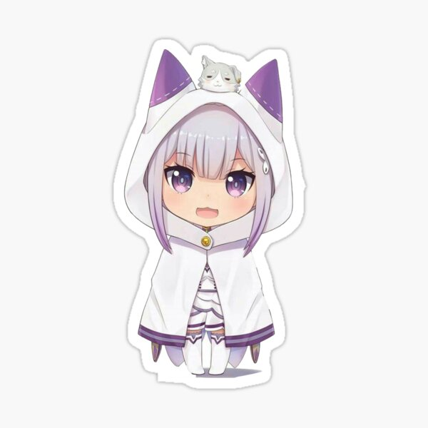 Emilia and pack sticker Sticker