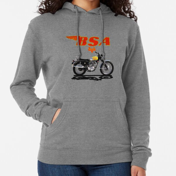 Vintage BSA Victor 441 Motorcycles Design by MotorManiac Lightweight Hoodie