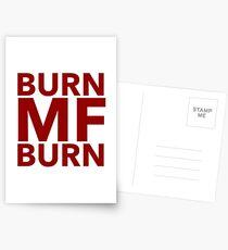 Pop Culture Gift - Burn MF Burn  Postcards