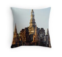 Temple Ruins Throw Pillow