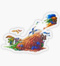 Hyrule's Unlikely Hero Transparent Sticker