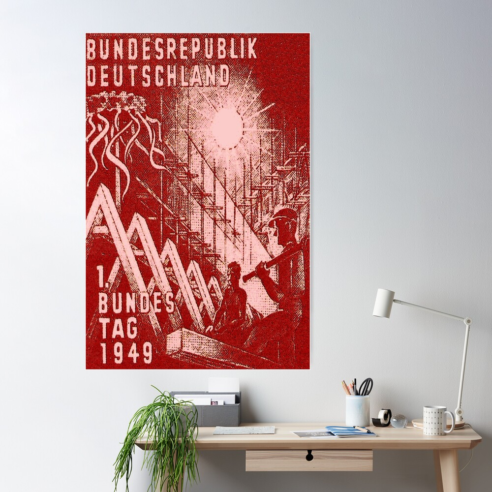 First Day of Post-War German Parliament, 1949. Poster