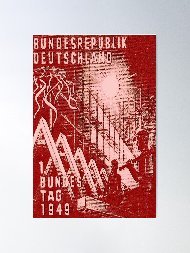 Alternate view of First Day of Post-War German Parliament, 1949. Poster