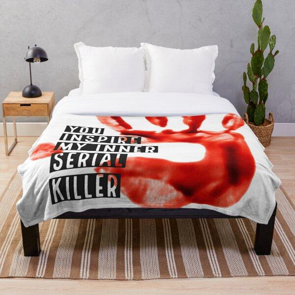 Serial Killer Bloody Handprint Graphic Throw Blanket