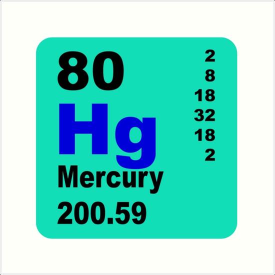 Mercury Periodic Table Of Elements Art Prints By Walterericsy