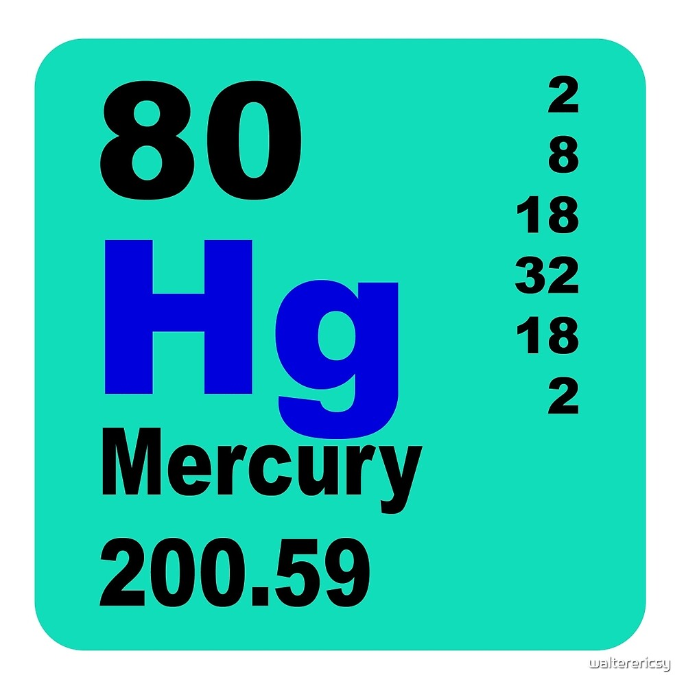 Mercury periodic Table of elements by walterericsy