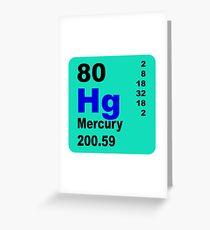 Mercury periodic Table of elements Greeting Card