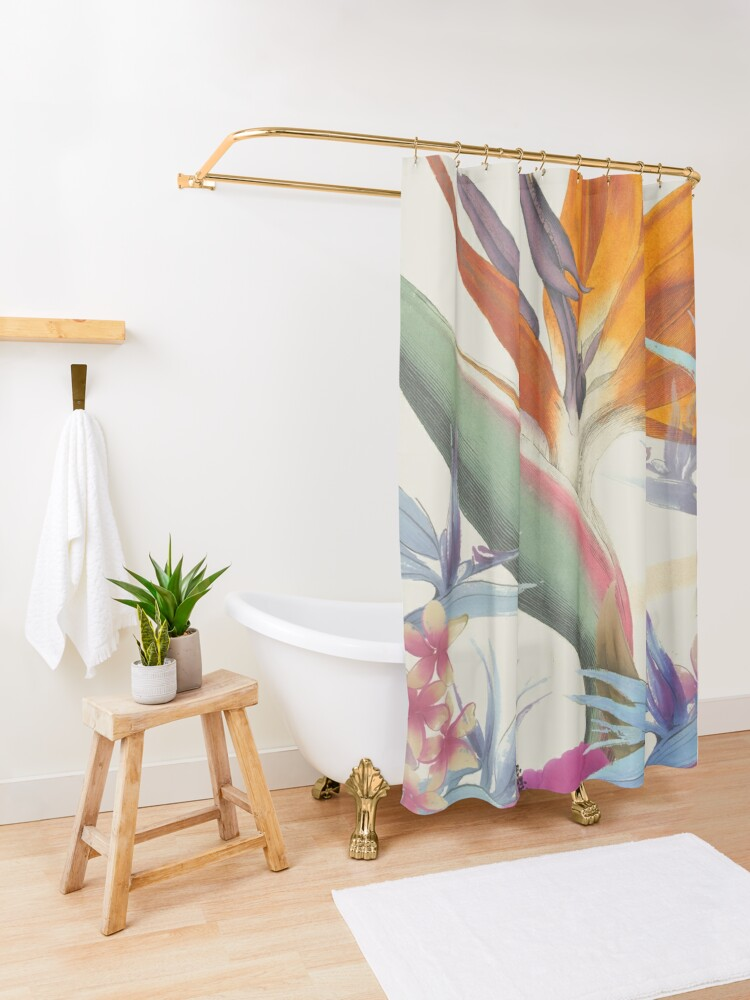 Alternate view of Fields of Paradise Shower Curtain