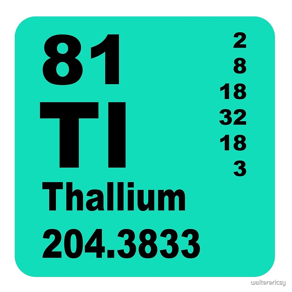 Thallium Periodic Table of Elements by walterericsy